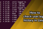 How to check user login history in Linux?