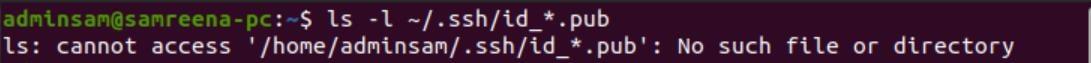 Ubuntu Generate SSH key step by step