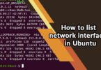 How to list network interfaces in Ubuntu