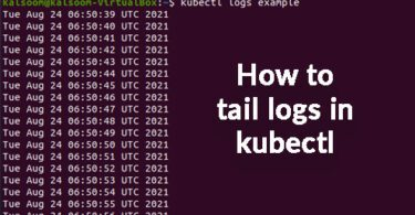 how to tail logs in kubectl