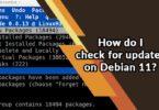 How do I check for updates on Debian 11?