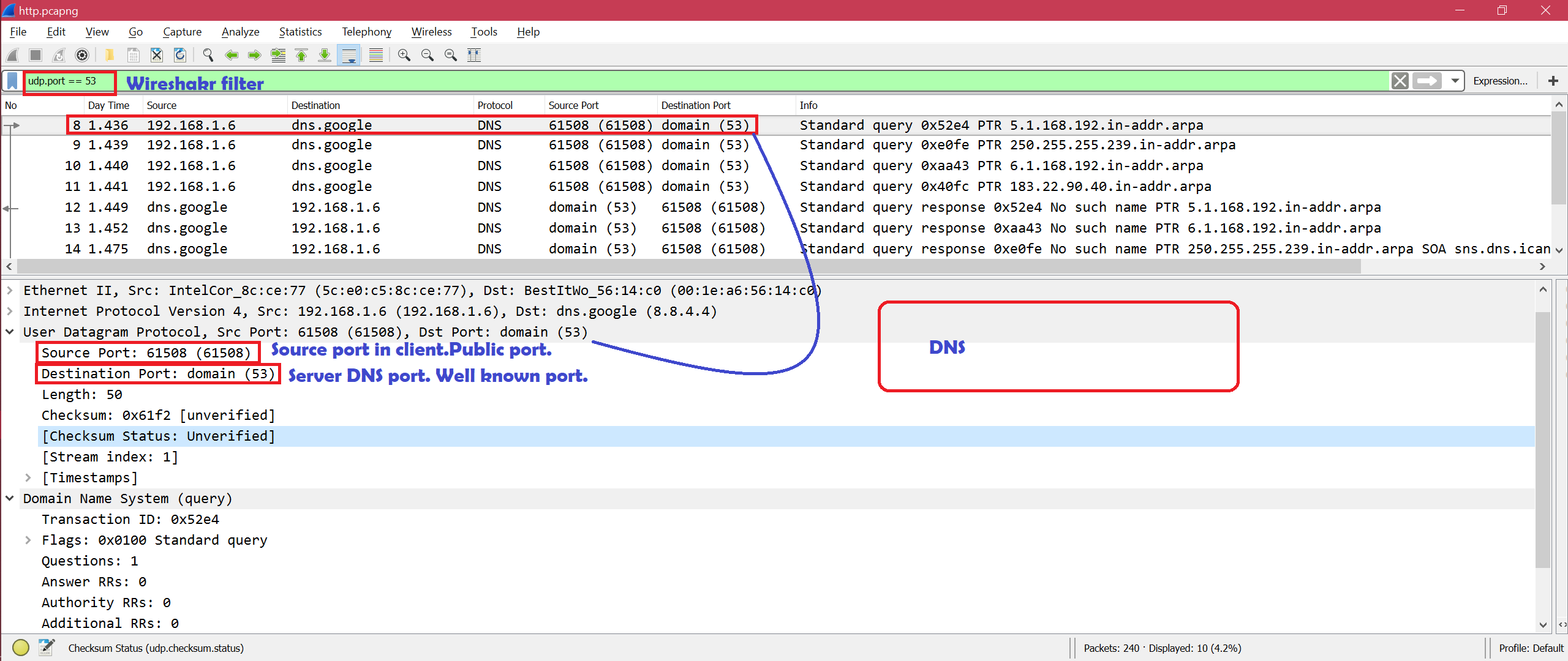 How to Filter By Port in Wireshark – Linux Hint